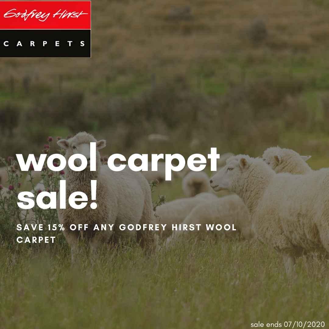 Godfrey Hirst Wool Carpet Sale