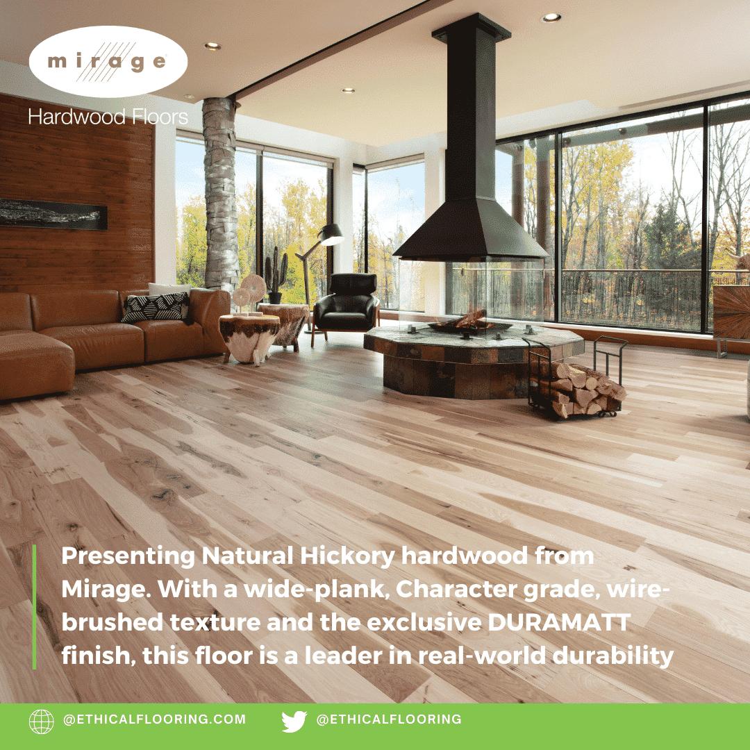 Natural Hickory Hardwood Floors