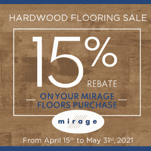 Mirage 15% Hardwood Sale