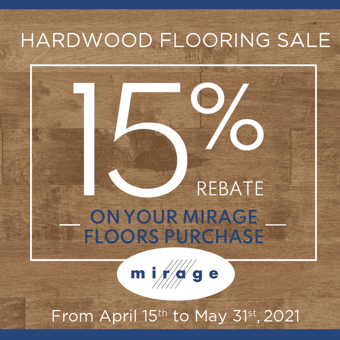Mirage 15% Hardwood Sale
